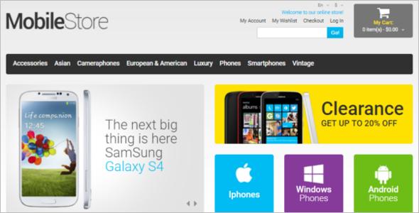 Mobile Store PSD Magento Theme