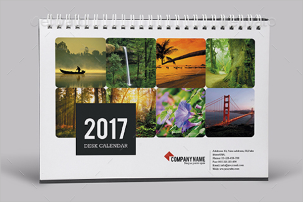 Mock Up Desk Calendar 2017 Template