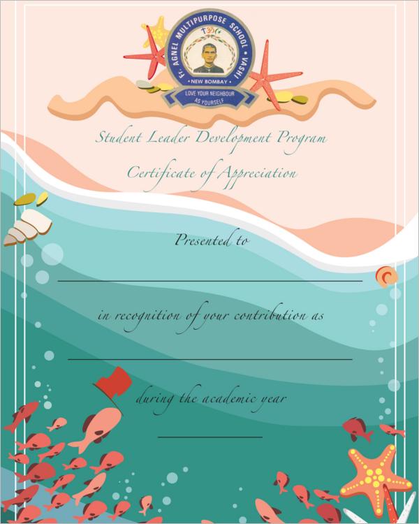 Model Certificate For Kids