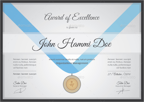 Acknowledgement Certificate Templates
