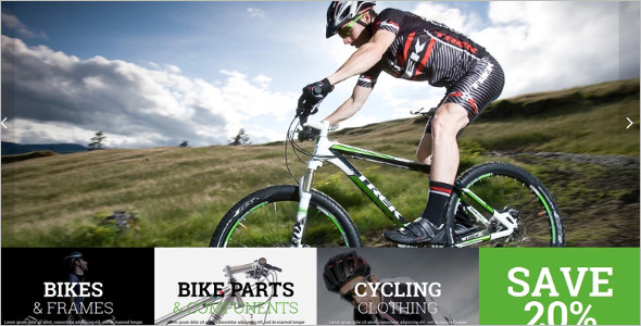 Modern Bike Shop Magento Theme