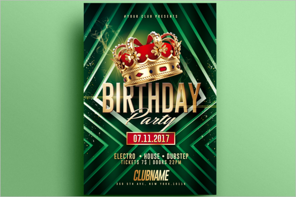 Modern Birthday Poster Design