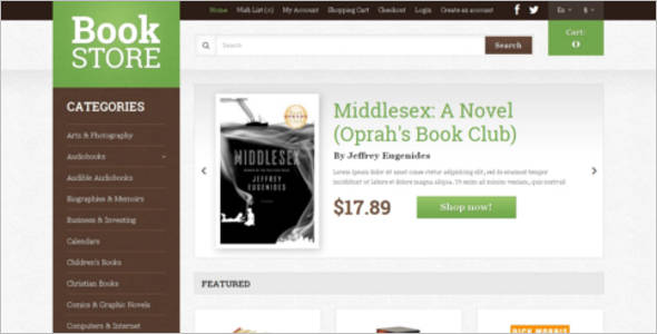 Modern Book Shop OpenCart Theme