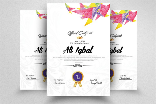 Modern Company Certificate Template