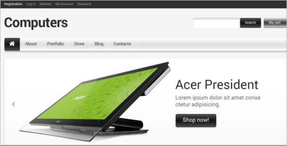 Modern Computer Store WooCommerce Theme