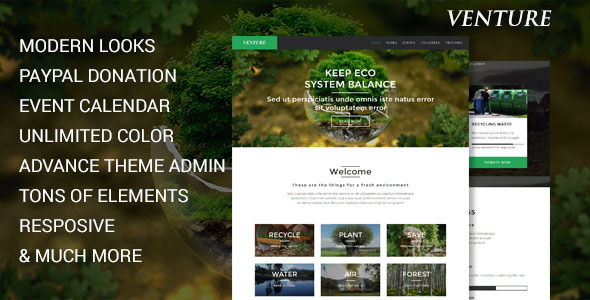 Modern Environmental Joomla Template