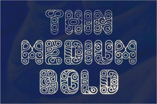 Modern Futuristic Decorative Font