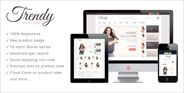 Modern Mobile Store Magento Theme