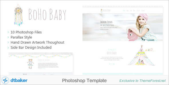Modern PSD Sketch Template