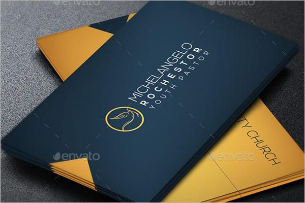 Modern Pastor Business Card Template