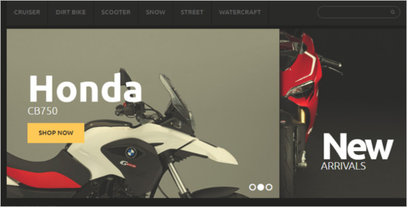 Motorcycles Magento Theme