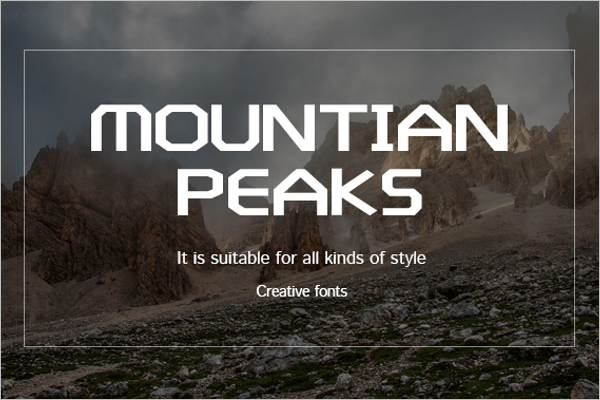 Mountain Creative Poster template