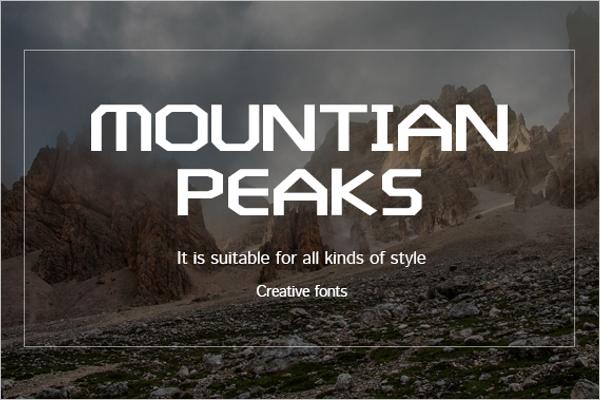 Mountain Creative Poster template