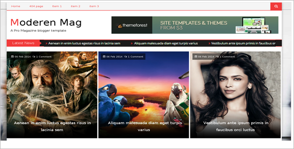 Movie Blog Free Template