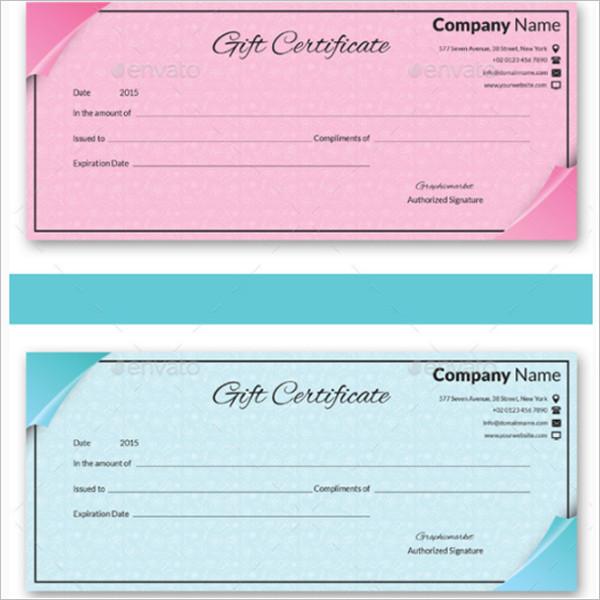 Multi Color Gift Certificate