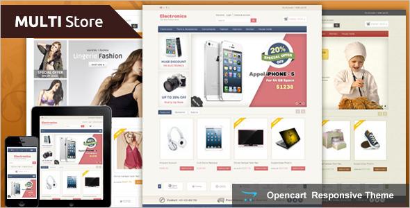Multi Store Jewellery OpenCart Template