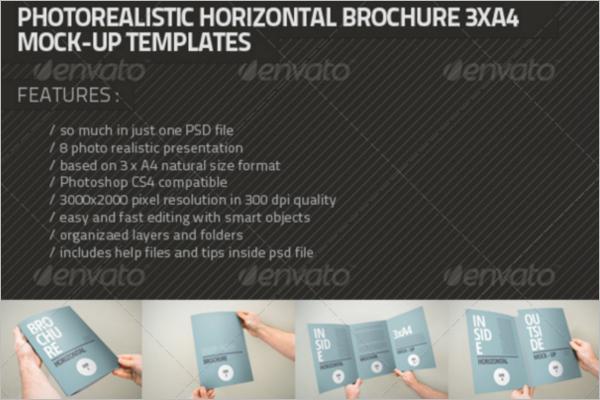Multiple A4 Brochure Mock-up Template