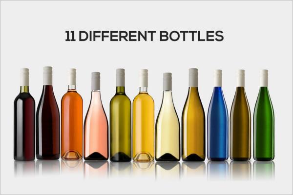 Multiple Bottles Design PSD