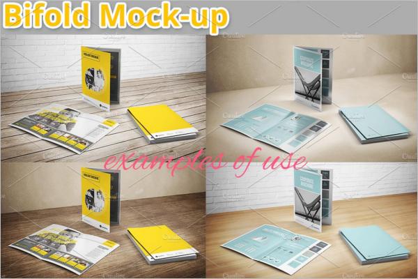 Multiple Brochure Mockup Template