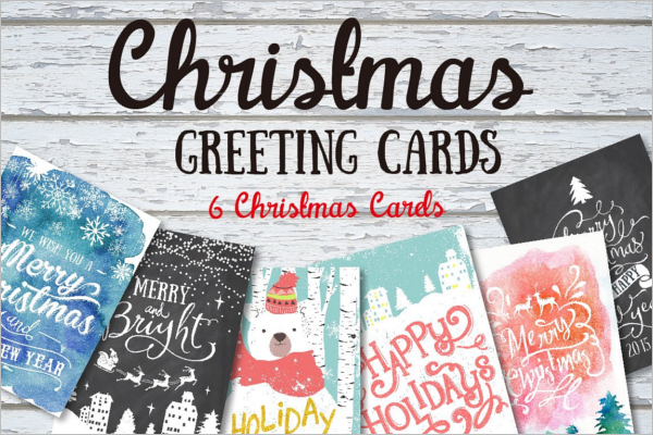 Multiple Christmas Greeting Card Vector