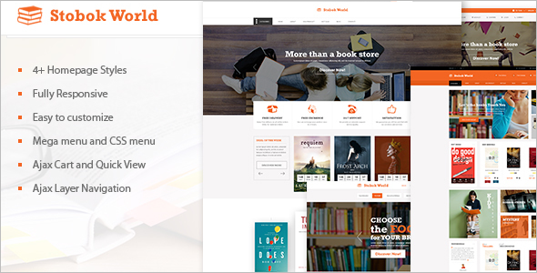 Multipurpose Bookstore Magento Template