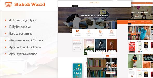 Multipurpose Bookstore Magento Template