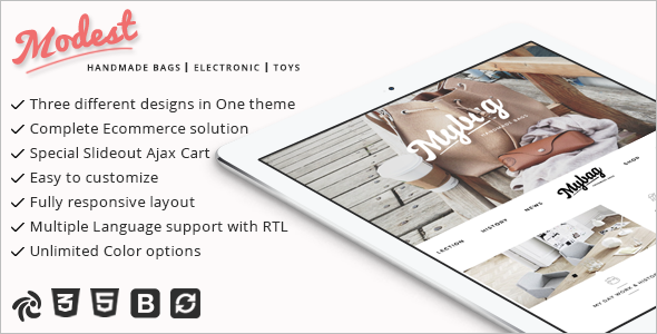 Multipurpose & Responsive Portfolio Zencart Theme