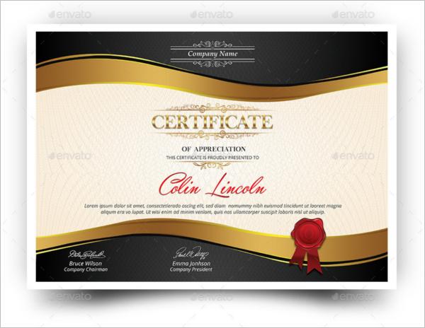 Multipurpose Training Certificate Template