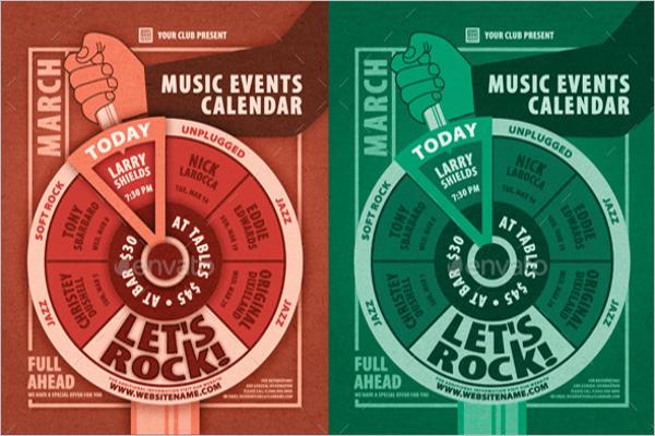 Music Events Calendar Poster