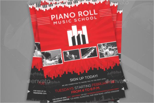 Music School Creative Poster