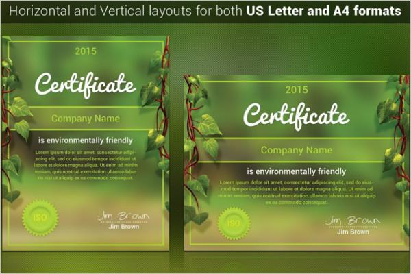 Natural Certificate Template