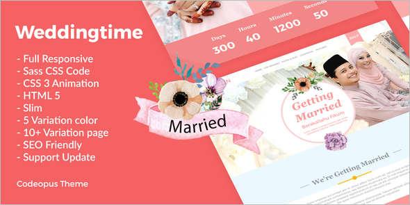 New Animation Wedding HTML Template