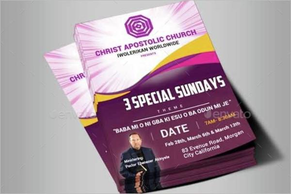 New Church Flyer Template