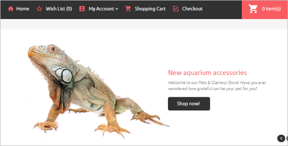 New Pets OpenCart Template