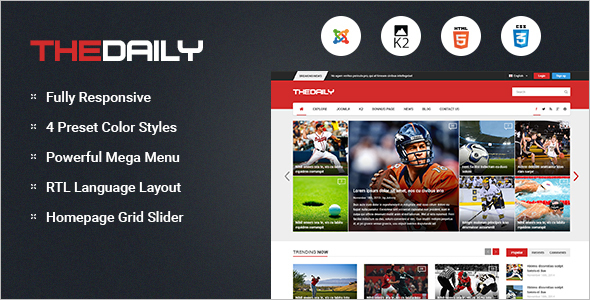New Responsive Joomla Template