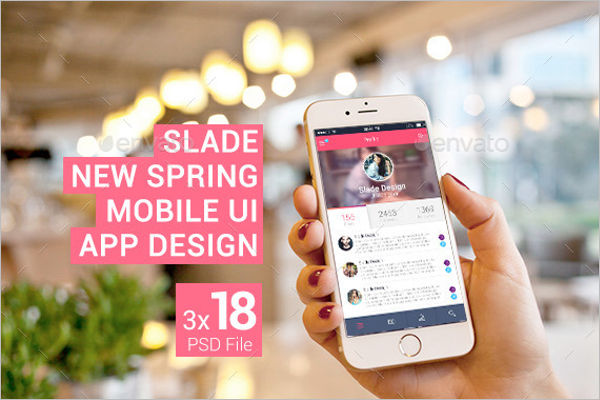 New Spring Mobile UI App Design