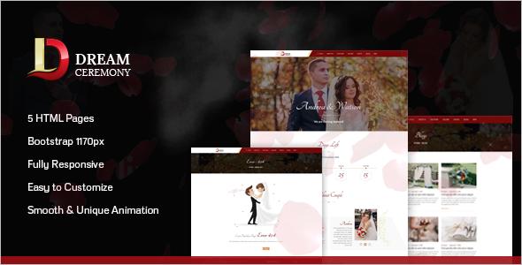 New Wedding Event HTML Template