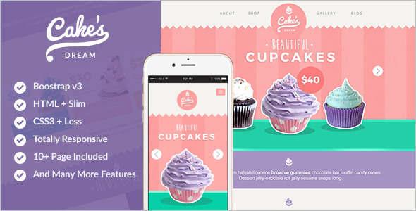 New Wedding Food HTML Template