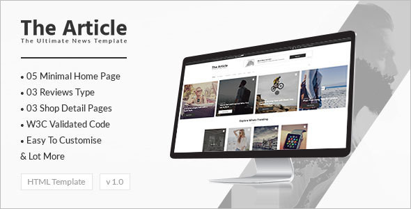 News Article Blog Magzine Template