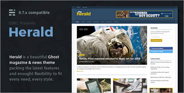 News Blog Magazine Ghost Template