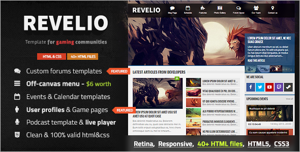 News Blog Magazine Template Model