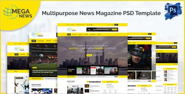 News Blog PSD Magazine Template