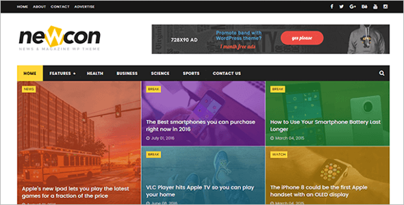 News Free Blog Template