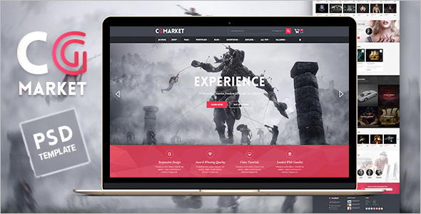 News Magento PSD Theme