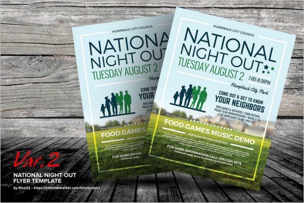 Night Out Summer Camp Flyer Design