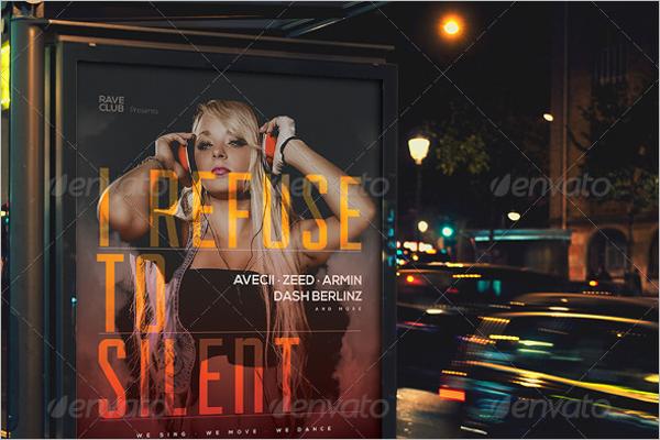 NightClub Music Poster Template