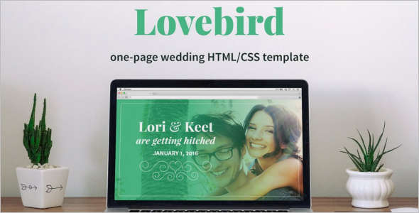 One Page New Wedding HTML Template