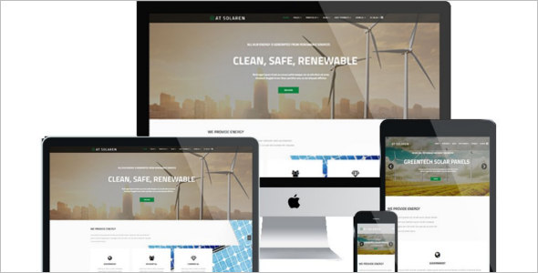 One Page Solar Energy Joomla Template