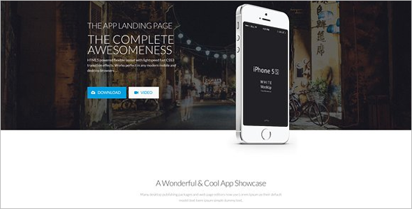 One Page jQuery Landing Page Effect Template