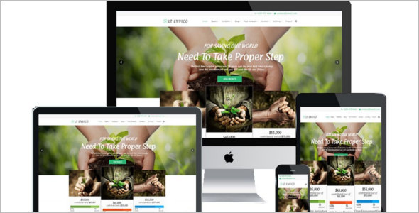Onepage Nature Joomla template